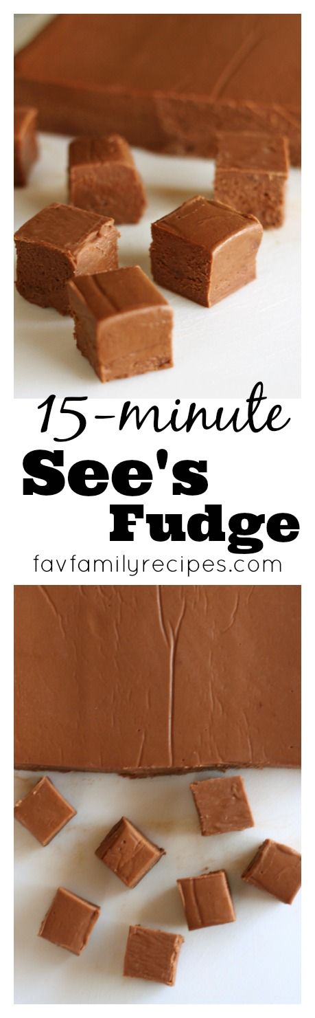This is the easiest, most foolproof fudge recipe EVER! From an actual worker at See's back in the day. My go-to fudge recipe every time. Never grainy, always perfect.   Find all our yummy pins at https://www.pinterest.com/favfamilyrecipz/