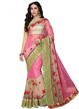 Karisma Kapoor Pink N Beige Saree