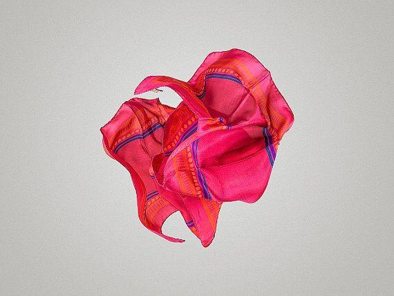 Silk Scarf Motivo. Digitally printed. 100% silk by Metaxi on Etsy
