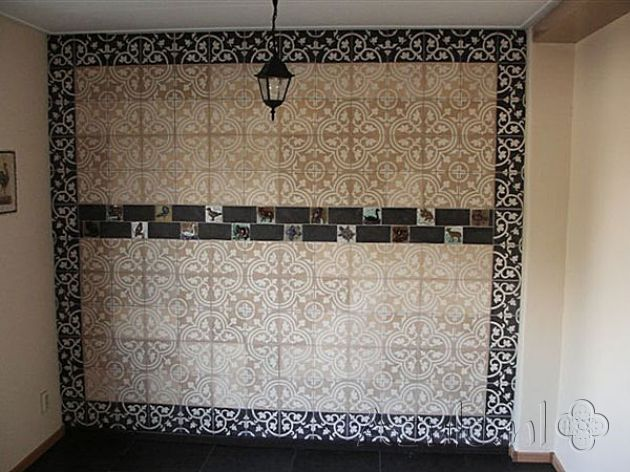 Cement tiles Living Room - Bruno 01 - Negra 07 - Project van Designtegels.nl