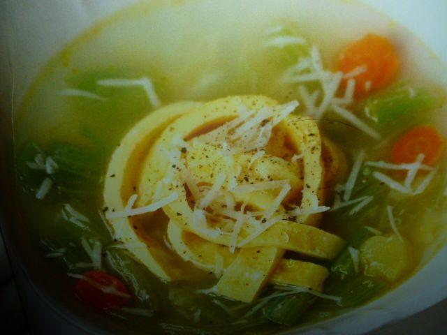 minestra di cardi e uova - vegetariana
