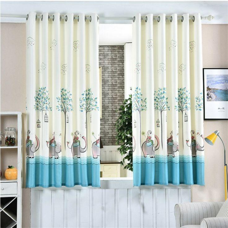 originales estampados cortinas elefantes
