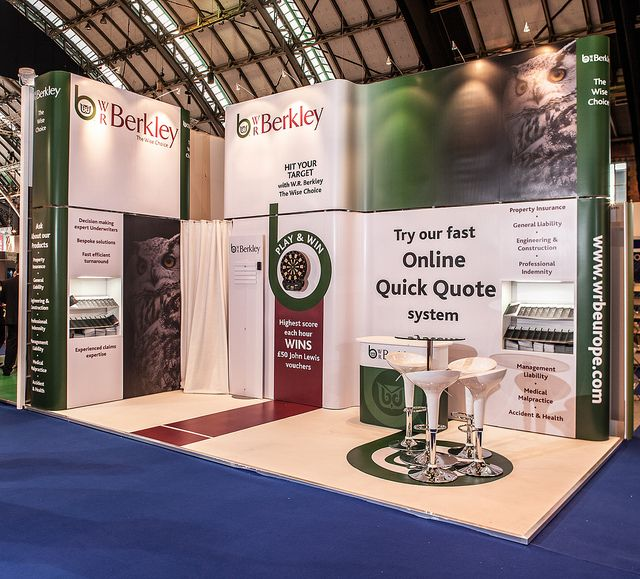 Classic Exhibition Stand Design for W.R. Berkley. To get a free design contact us at http://www.expodisplayservice.ae/FreeDesign.aspx
