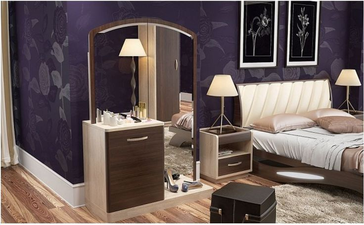 modern dressing table design in women bedroom