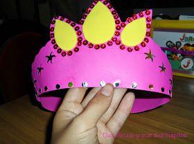 Ideas para tu fiesta: Para las princesas de la casa. Ideas para un cumpleaños de princesas. Princess Party Ideas. Corona hecha en cartulina ¡Con moldes!