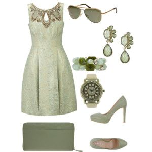 army green dress outfit very chic.