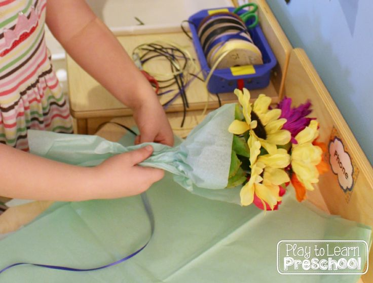Play to Learn Preschool: Flower Shop Dramatic Play
