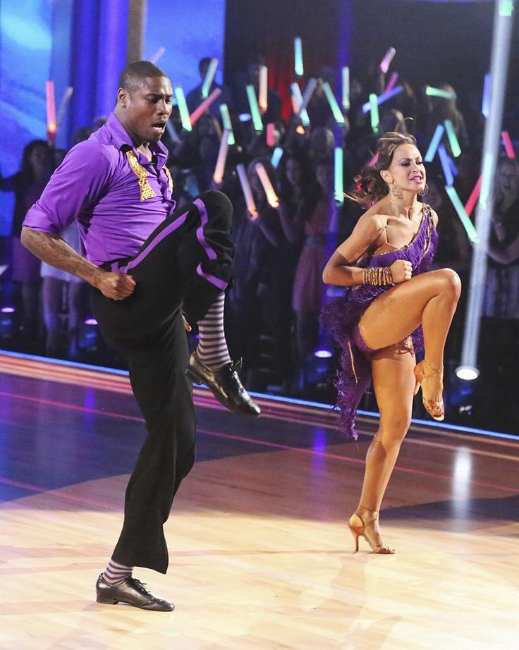 "Nice moves, Jacoby Jones! (Jacoby Jones & his professional dance partner, Karina Smirnoff on ""Dancing with the Stars"" - 3/18/13)"