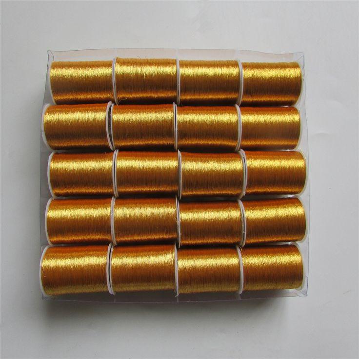 оптовые продажи 20 рулон ЗОЛОТО красивый золотой нить вышивка нить швейная линия
