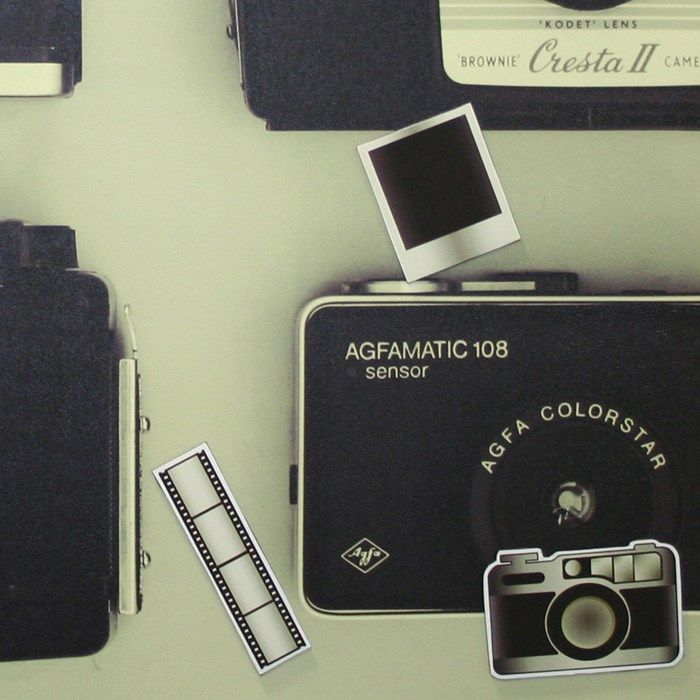 Retro camera magnetic memo canvas | Graham and Brown