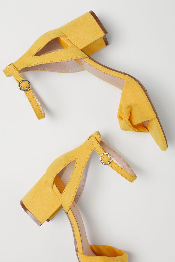 Sandals   Yellow   Women   H\u0026M US