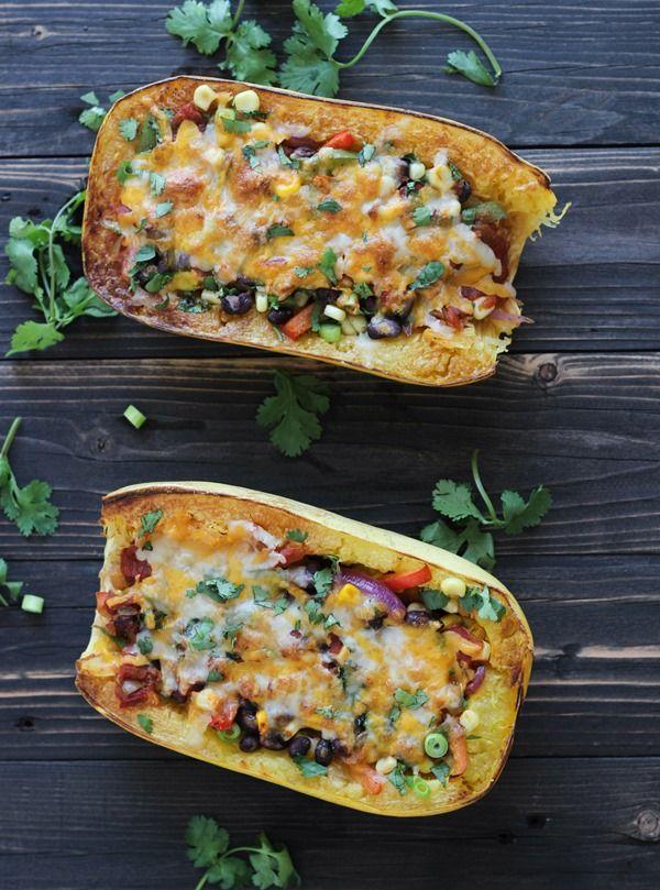 Spaghetti Squash Burrito Bowls | www.makingthymeforhealth.com  #lowcarb #grainfree #glutenfree