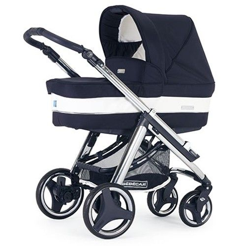 Bebecar Ip-Op Evolution Chrome Combination Pram (Oxford Blue)