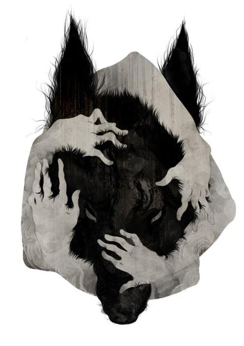 Wild Dog Canvas Print by Corinne Reid