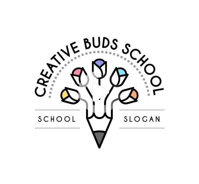 Creative Buds Preschool Logo & Business Card in 2020