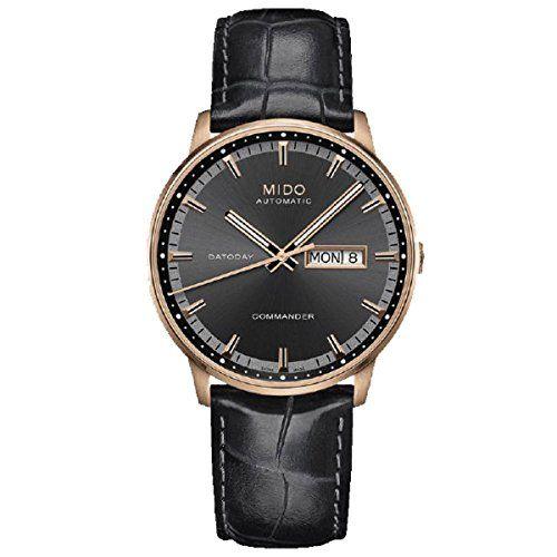 Mido Herren-Armbanduhr XL Commander Analog Automatik Leder M0164303606180 - http://uhr.haus/mido/mido-herren-armbanduhr-xl-commander-analog-leder