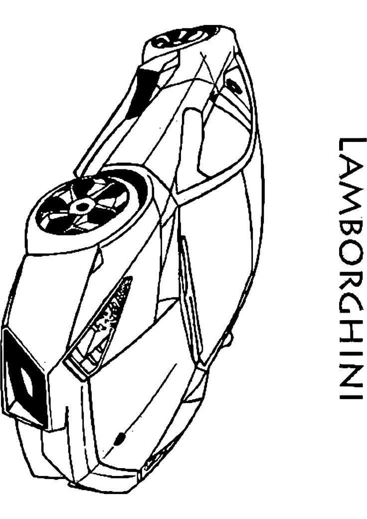 Bien-aimé Les 25 meilleures idées de la catégorie Coloriage de voiture de  QN22