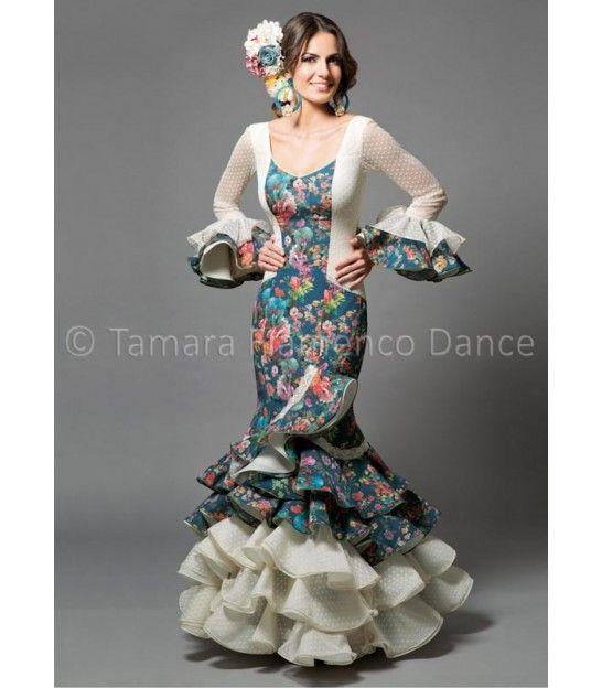 woman flamenco dresses 2016 - Aires de Feria - Rosa printed flowers