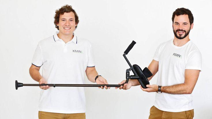 Adiós al esparadrapo: un joven ingeniero español diseña unas muletas que no duelen