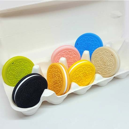 Teething toy cookie