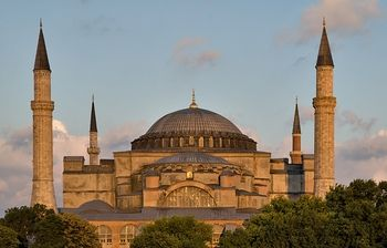 Hagia Sophia   **360-1453 served as the Greek Patriarchal cathedral of Constatntinople   **(except from 1204-1261 when it served as a Roman Catholic cathedral)  **1453-1931 was a mosque  1935 opened as museum