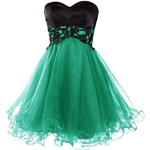 Dresstells Short Prom Dresses 2015 Homecoming Dress for Women ($70) ❤ liked on Polyvore featuring dresses, short dresses, vestido, prom dresses, cocktail mini dress, green prom dresses and short homecoming dresses