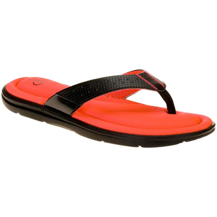 OP GEL MEMORY FOAM FLIP FLOPS...I OWN THIS EXACT PAIR + THEY ARE COMFORTABLE...FIND THEM @ WAL-MART STORES...