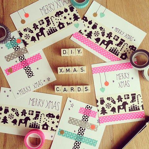 Elske: christmas cards DIY  크리스마스를 위한 아이디어  Pinterest
