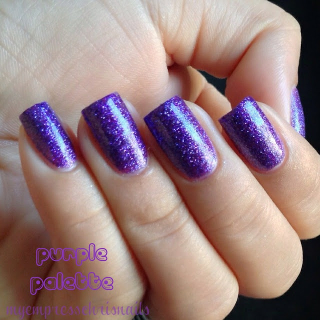 Red Nail Polish On Thumb: Purple Palette By Finger Paints