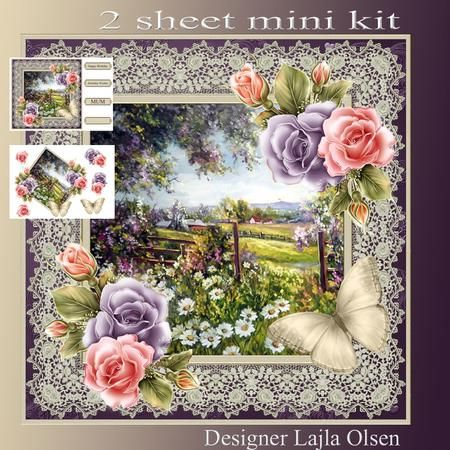 Flower Field on Craftsuprint designed by Lajla Olsen - Makes a 8x8 inch…