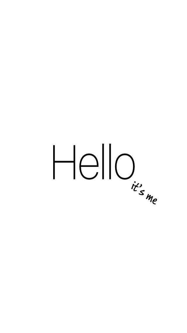 *Olá sou eu* Hello-Adelle