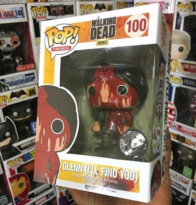 Custom Funko Funko Pop! Walking Dead Glenn Rhee I'll Find You,Negan Death !