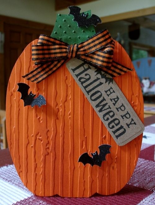 fun card.  CTMH cardstock would work fantastic for this, along with our little bats fro the cricut cartridge