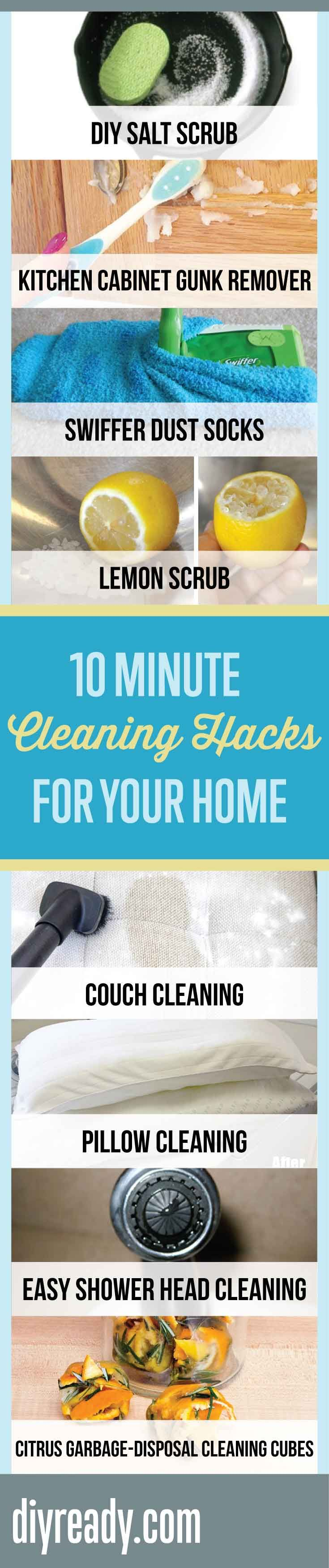 10 Minute Cleaning Hacks For Your Home | Easy Home Cleaners That Cost Nothing! By DIY Ready. http://diyready.com/10-minute-cleaning-hacks-that-will-keep-your-home-sparkling/
