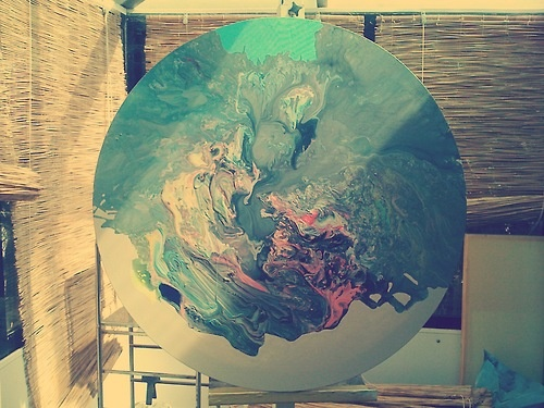 Process is the Process    Azucena González Atelier. 2012  0 ♥ / 14 September, 2012        Tagged:      Paint,      atelier,      studio,      paint,      canvas,      colors,      Azucena González