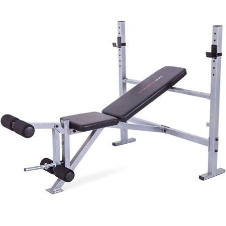 Home Gym Strength Mid Width Weight Exercise Barbell Bench