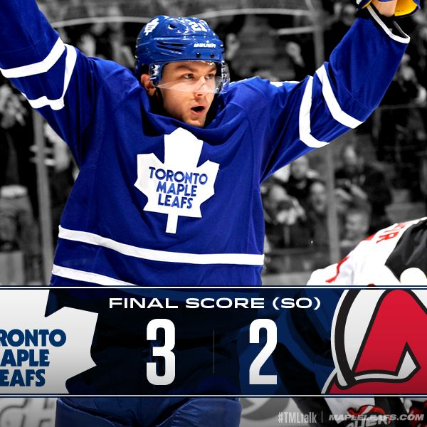 Holy hell, the Leafs won. JVR with a goal and the SO winner.