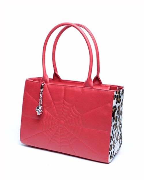 Lux De Ville Elvira Lucky Me Tote Matte Leopard Print Purse Handbag ELUX66RML