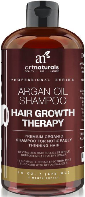 Art Naturals Organic Argan Oil Hair Loss Shampoo for Hair Regrowth 16 Oz - Sulfate Free - Best Treatment for Hair Loss, Thinning & - Growth Product For Men & Women - Infused with Biotin - http://amzn.to/2gdECnt