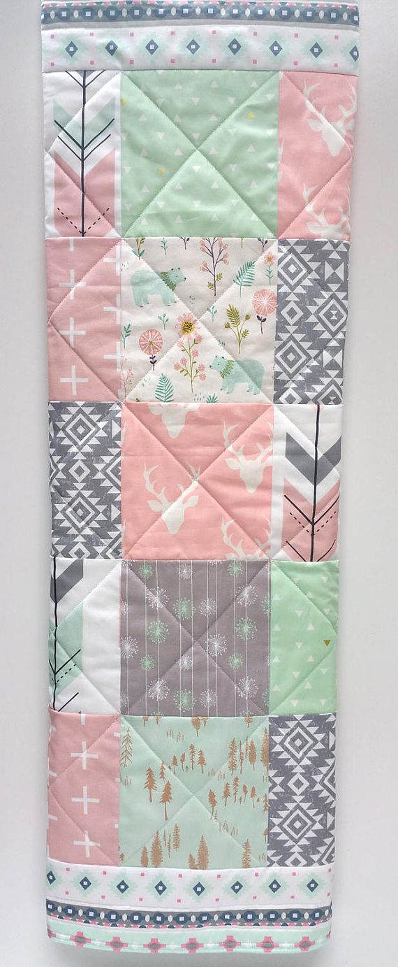 Baby Girl Quilt-Rustic Woodland Crib