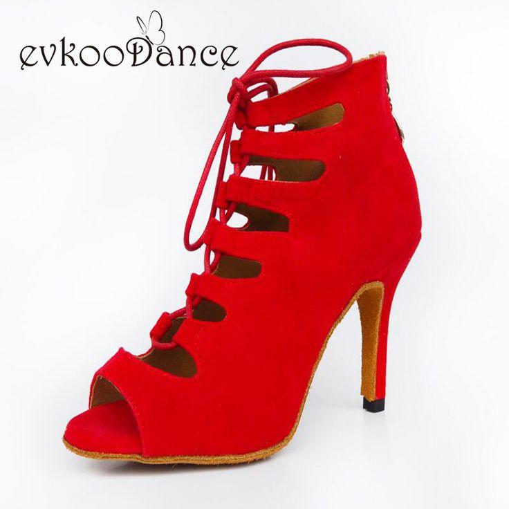 2017 boots style Zapatos de baile latino scarpe da ballo Salsa Red Blue Black Purple Nubuck Latin Dance Shoes for Ladies NL001 #Affiliate