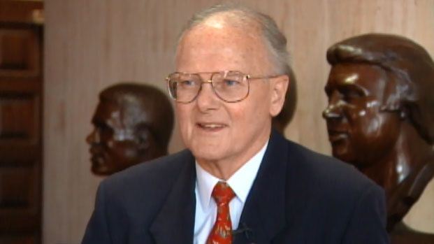 Never-before-seen video from 1998 shows Chiefs owner Lamar Hunt talking about coming up with the name for the Super Bowl.