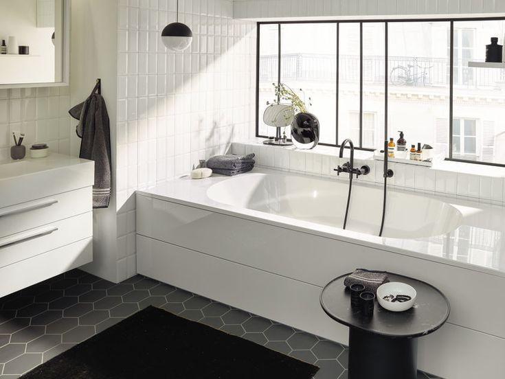 Die besten 25+ schwarze Badezimmer Ideen auf Pinterest Beton - badezimmer schwarz weiß