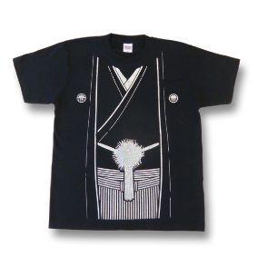 【レキシ】袴 Tシャツ[シルバーラメプリント]