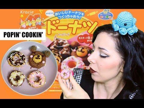 POPIN'COOKIN' Kracie Happy Kitchen DIY Doughnuts TUTORIAL❤ハッピーキッチン ドーナツ - YouTube