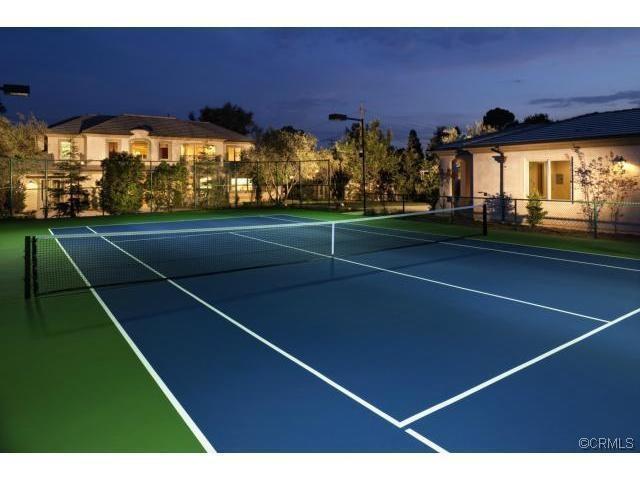 Sport Court backyard tennis court. Build your backyard Tennis Court at: http://www.sportcourt.com/design-a-court