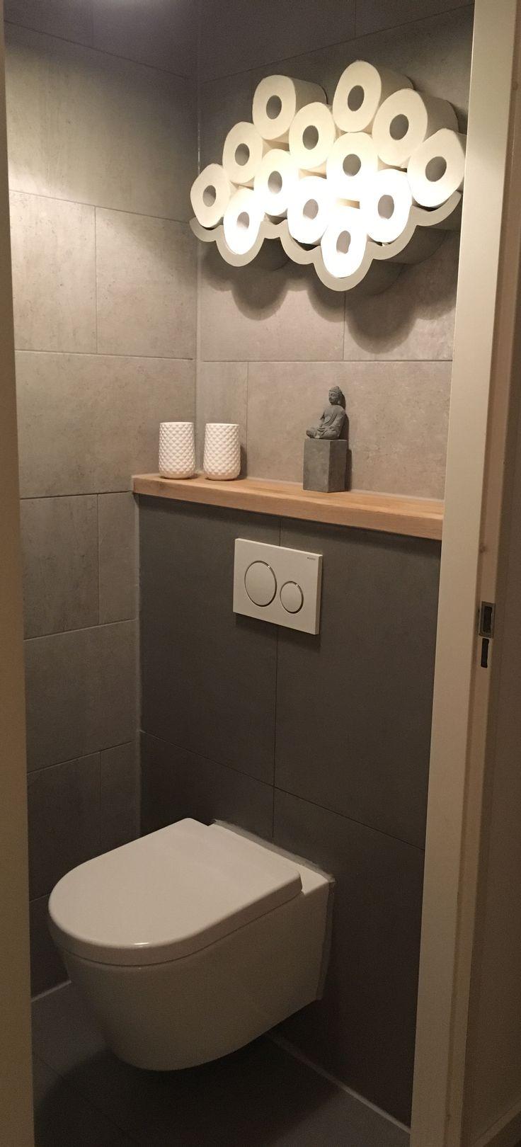 Betonlook tegels met Geberit toilet