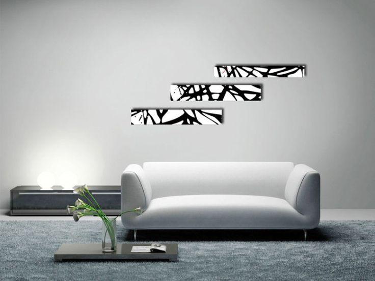 Interior Wall Clock Web Home Decor, Modern Luxury 3pcs Framed Wall Art   #LEMONART #ArtDeco