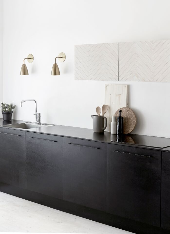 Lampor på väggen i köket