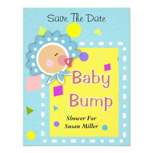 Cute Baby Bump Save The Date Shower Invitation